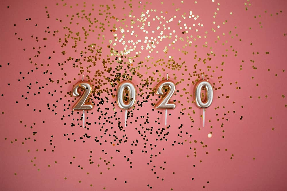 2020 in gold and glitter who will you stick with concept Sally Bibb blog